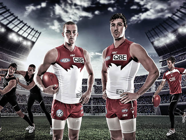 AFL campaign photography and retouching